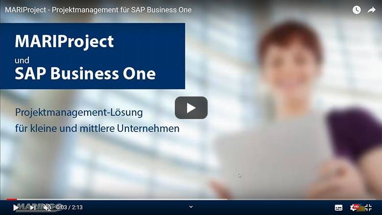MARIProject - Projektmanagement für SAP Business One
