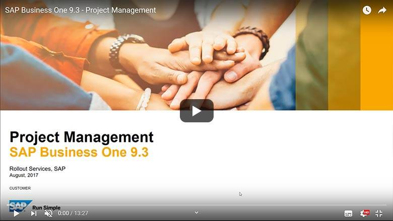 SAP Business One 9.3 - Project Management